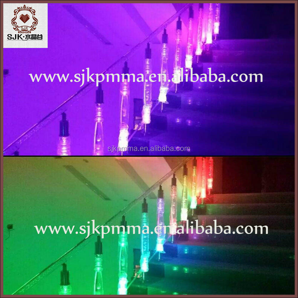 Acrylic Led Light Handrail For Acrylic Stair Railing