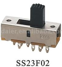SS23F02 2P3T slide switch