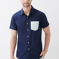 Wholesale Mens Clothing Contrast Pocket Polo