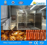 50-1000 kg/Furnace Delicious Sausage Chicken Fish Duck Bacon professional smoke house oven