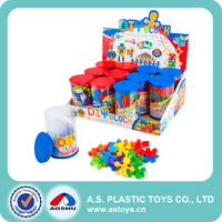 Colourful Animal People Plastic Building Blocks Toys For Preschool