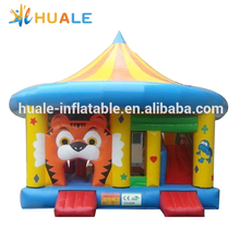 Huale Customized Inflatable Tiger Bouncy Castle / Inflatable Bouncer with Slide for Kids