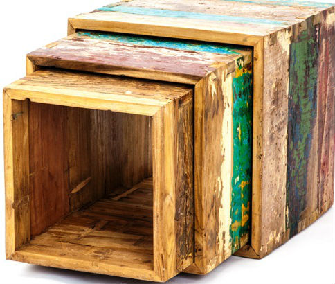 BOXES MADE OF OLD BOAT WOOD BWB11
