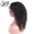 Indienne Perruque Tresse Raw Unprocessed Indian Virgin Human Curly Hair Lace Front Wig