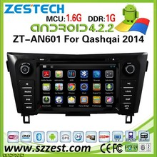 ZESTECH wholesale android car dvd player for NISSAN Qashqai 2014 android car gps radio with wifi bluetooth 3g wifi