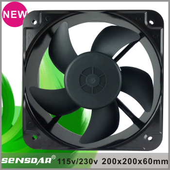 High speed energy saving 200mm ac axial fan 6 inch large size 115v/230v ac cooling fan for Ventilation