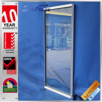 Australia standard aluminium thermally broken double glazed soundproof decorative fixed window design