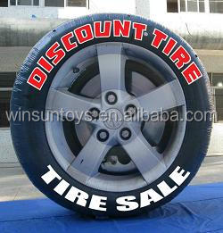 Giant inflatable tire, replica tire balloon