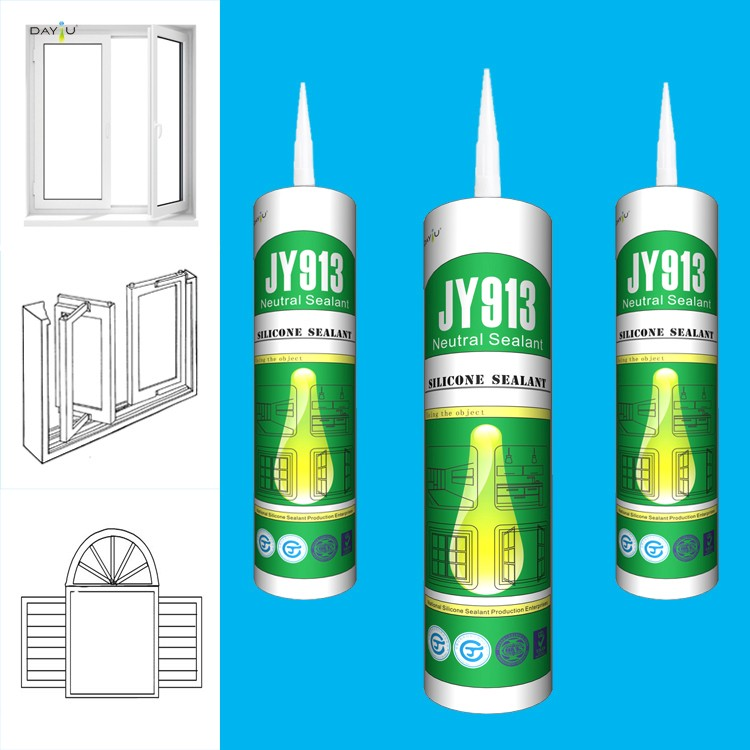 Professional manufacturer JY913 outside using sealant roof rtv silicon sealant
