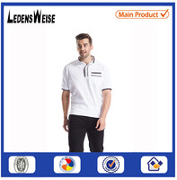 White new design mens clean wear embroidery polo shirts wholesale china
