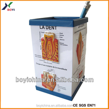 3D PVC embossed pen container,pharmaceutical promotion gifts
