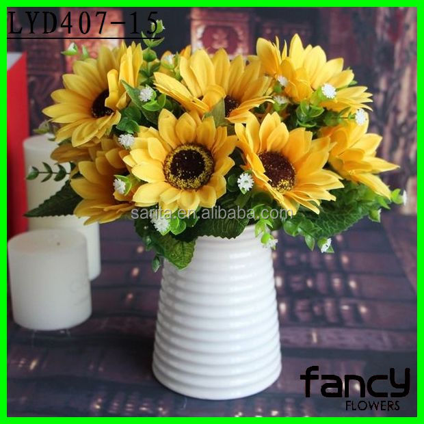 7 branches fake sunflowers artificial sunflower bouquet