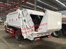6Tons Garbage Compactor Truck 8000Liters Waste Disposal Trucks with Hydraulic Rear Load Handles Whatsapp 0086 15897603919