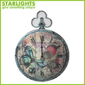 shabby chic antique vintage decorative metal wall clock