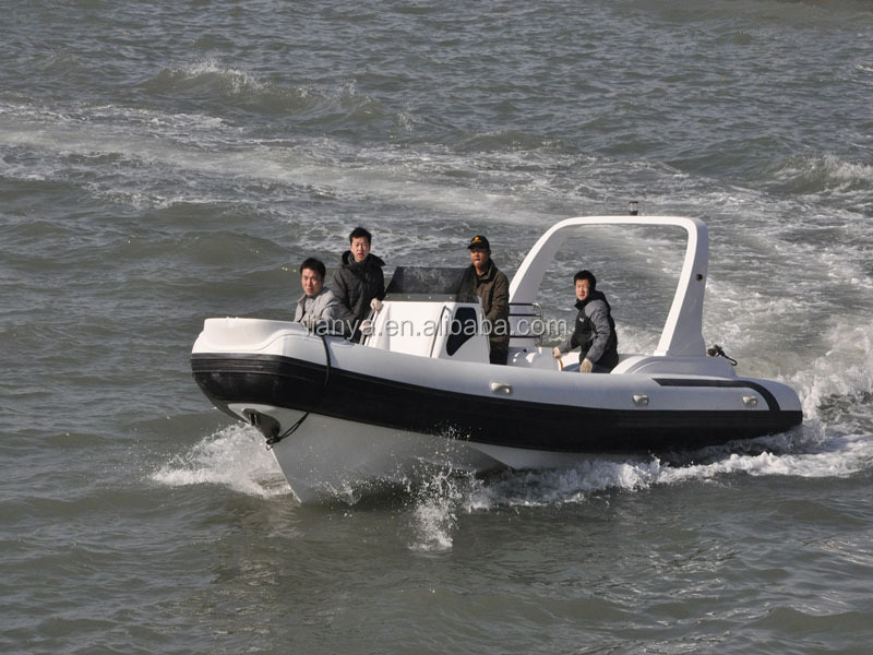 Liya 25ft 12 people military rib boats semi rigid inflatable boat for sale