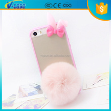 VCASE Luxury Winter Rabbit Fur dustproof Phone Cases For iPhone 5 5G 6G