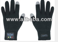 Touch screen gloves with wireless bluetooth handsfree talking glove for cellphone