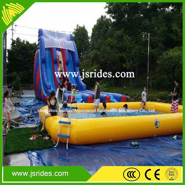 Attractive inflatable water slide with pool for kids&adult