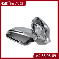 For AUDI A4 B8 2008-2009 Silk extinction chrome plating Metal Car Door Mirror Cover Side Mirror Cover