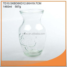 Wholesale clear rose glass vase export to Wal-Mart
