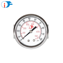Factory Price Small General Pressure Gauge with Straight and Flared Bracket