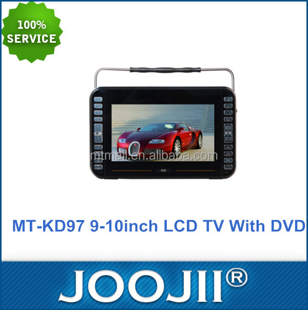 9 inch 10 inch Portable Mini TV Player Analog TV Digital LCD TV, Suppport FM radio, MP3 player portable TV with DVD