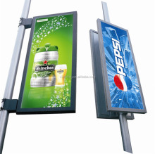 700*1700mm street pole advertising traffic road sign board outdoor advertising projectors