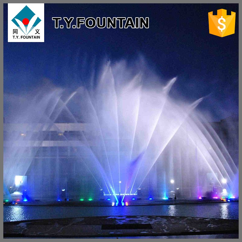 Led Light Dancing Water Square Music Outdoor Fountain