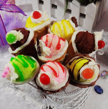 Artificial Food Cake Dessert Cell Phone Keychains- Fake Ice Cream Cone Wedding Souvenirs Gifts Display