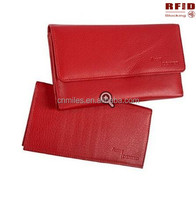 RFID Blocking Ladies Leather Wallet and Checkbook
