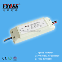 High efficiency 30W 350ma triac dimmable led power supply with 3 years warranty
