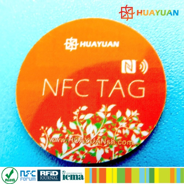 Mobile phone programabel NFC Tag NTAG216 13.56MHz adhesive anti metal TAG