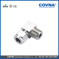 Stainless Steel double ferrule fittings flexible terminal