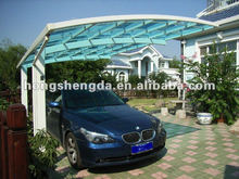 low cost beautiful design transparency prefabricated PVC car shed/carport