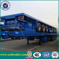 40ft 3 axle trailer flat deck container