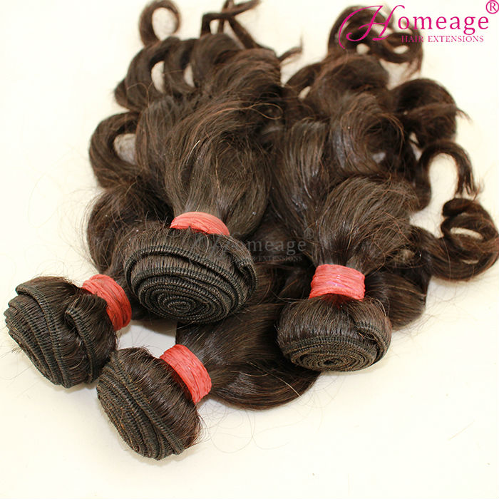 homeage 5a loose wave virgin indian human bosin hair