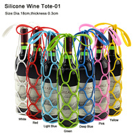 Silicone Collapsible Picnic Basket Placemat Wine Bottle Holder Wine Tote