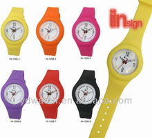 2013 HOT sales promotional silicone wrist watches, interchangable straps