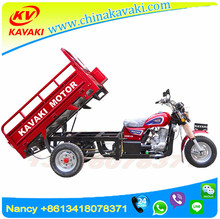 Guangzhou Moto 150cc semi-enclosed cargo trike motorcycle 150cc manual Motorcycle 3 wheel cargo trailer