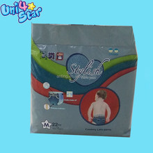 Economic High Absorbent Plastic Disposable Pants Diaper For Baby