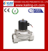 air solenoid valve/1.5'' NPT 2S400-40 Guarantee 100% 2 Way Stainless Steel Water Solenoid Valve Normal Closed 24VDC Fast Open