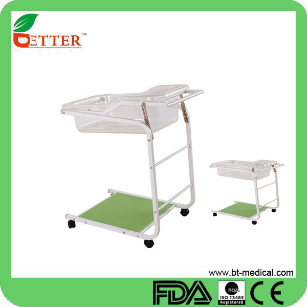 Hospital baby bed plastic pediatric baby crib