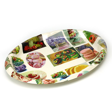 Wholesale china trade dessert disposable dinnerware plastic tray