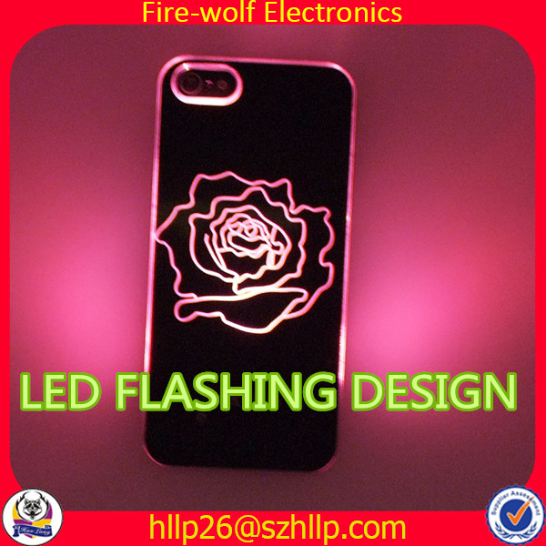 Fashion lighting phone cover mobile phone case Light up phone case