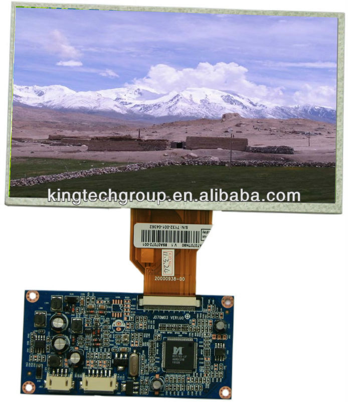 "7"" TFT LCD display with resistive touch screen 800X480 controller board"