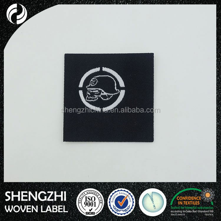 Wholesale Direct Factory High density woven label for garment 100% polyester woven label size labels woven for clothing