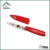 Non-stick coating pering knife with plastic red PP cover sheath