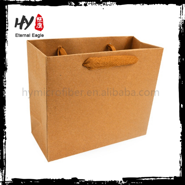 Customized large size printed shopping paper bag for wholesales