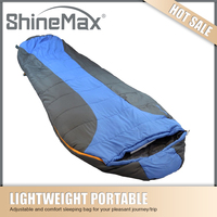 Camping down mummy sleeping bag for cold weather