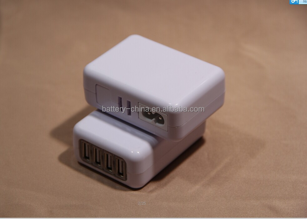 4 USB output portable usb charger for Samsung iphone mobile phone